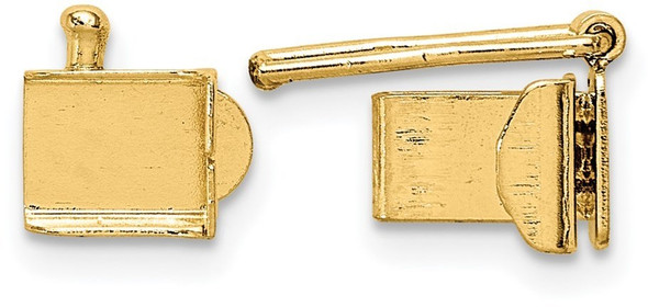 4mm 14k Yellow Gold Folded Tongue and Box Clasp
