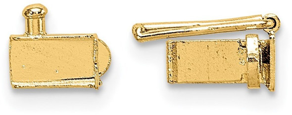 3.25mm 14k Yellow Gold Folded Tongue and Box Clasp