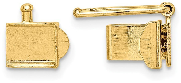 5.25mm 14k Yellow Gold Push Bar Box Clasp