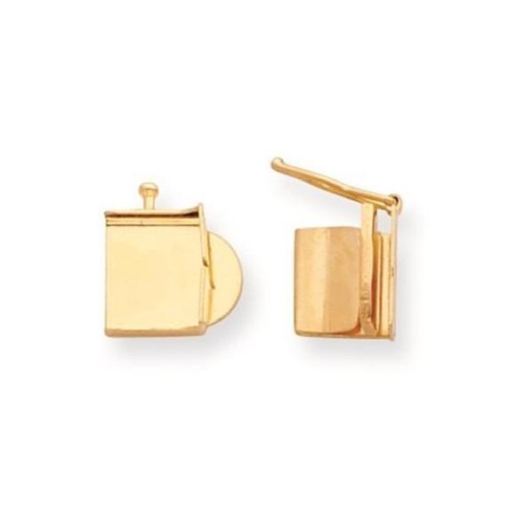 10mm 14k Yellow Gold Push Bar Box Clasp