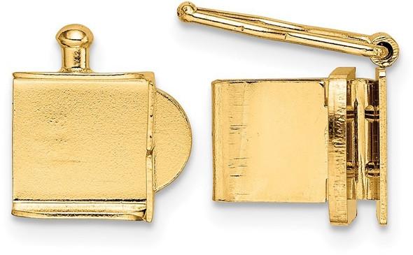 8mm 14k Yellow Gold Push Bar Box Clasp