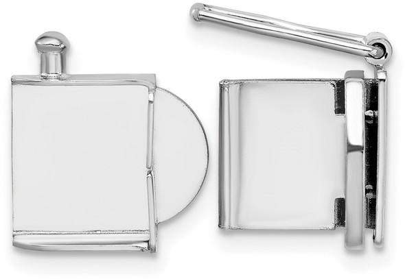 10mm 14k White Gold Push Bar Box Clasp