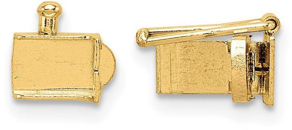 4mm 14k Yellow Gold Push Bar Box Clasp
