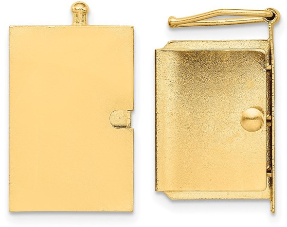 13.2mm 14k Yellow Gold Push Button Box Clasp