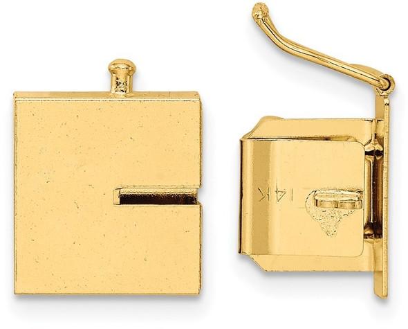 11mm 14k Yellow Gold Push Button Box Clasp