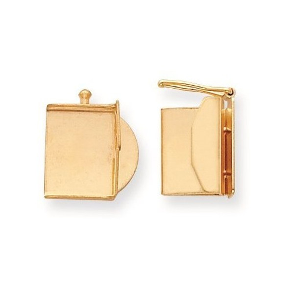 10.6mm x 13.1mm 14k Yellow Gold Replacement Tongue for Folded Box Clasp