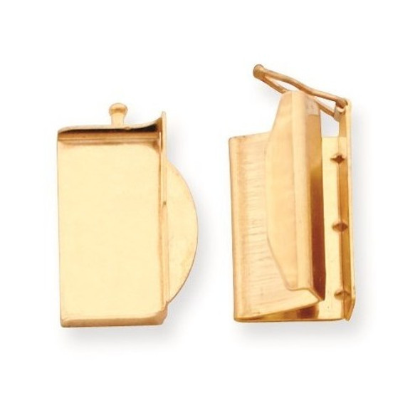 11.9mm x 18.8mm 14k Yellow Gold Replacement Tongue for Folded Box Clasp