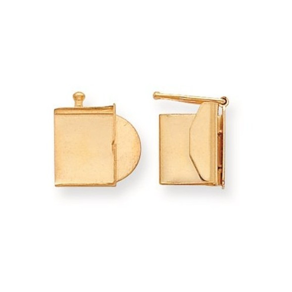 10mm x 10.4mm 14k Yellow Gold Replacement Tongue for Folded Box Clasp