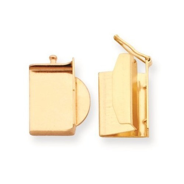 12mm x 14.9mm 14k Yellow Gold Replacement Tongue for Folded Box Clasp
