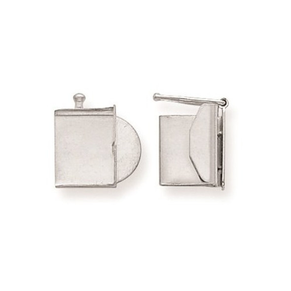 10mm x 10.4mm 14k White Gold Replacement Tongue for Folded Box Clasp