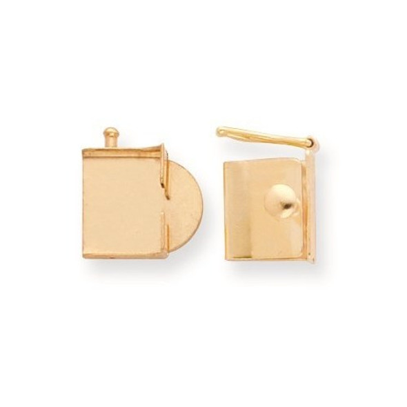 13mm x 11.9mm 14k Yellow Gold Replacement Tongue for Push Box Clasp