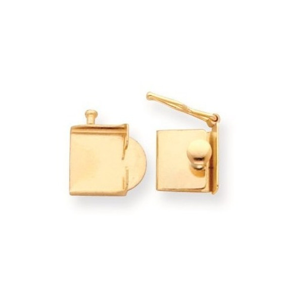 11.2mm x 10mm 14k Yellow Gold Replacement Tongue for Push Box Clasp