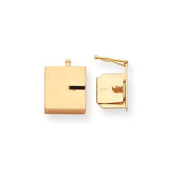 10.8mm x 11mm 14k Yellow Gold Replacement Tongue for Push Button