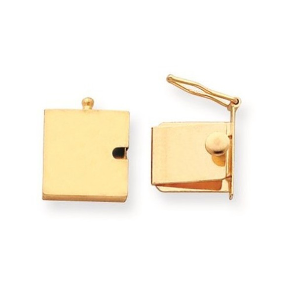 13.3mm x 13mm 14k Yellow Gold Replacement Tongue for Push Button