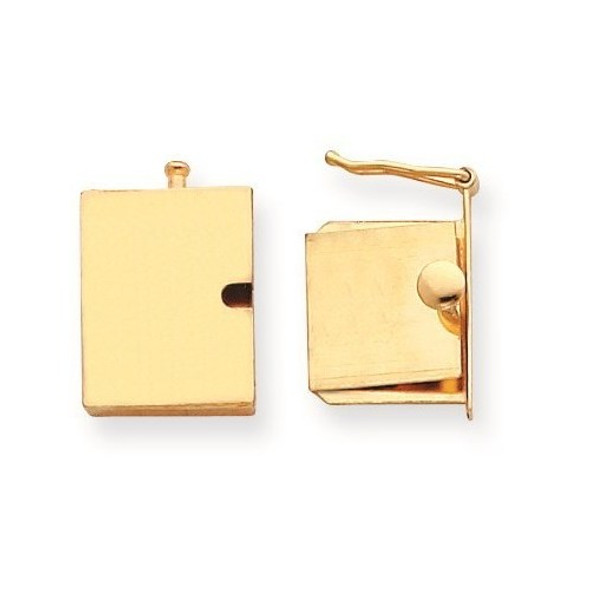 13.3mm x 16mm 14k Yellow Gold Replacement Tongue for Push Button