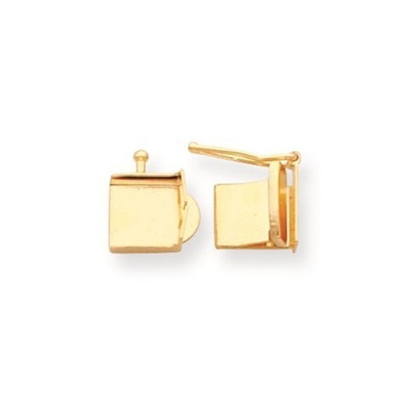 8mm x 8mm 14k Yellow Gold Replacement Tongue for Push Box Clasp