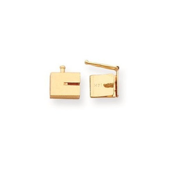 8mm x 6mm 14k Yellow Gold Replacement Tongue for Box Clasp