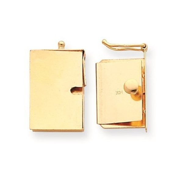 13.2mm 14k Yellow Gold Replacement Tongue for Push Button