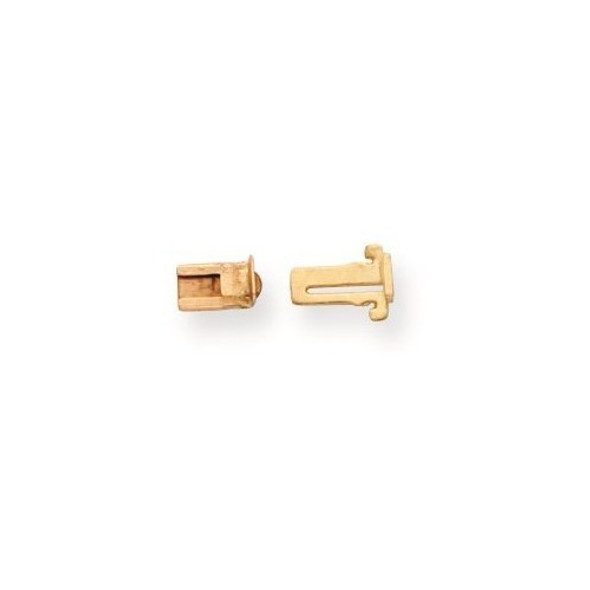 3.3mm 14k Yellow Gold Double Action Tongue