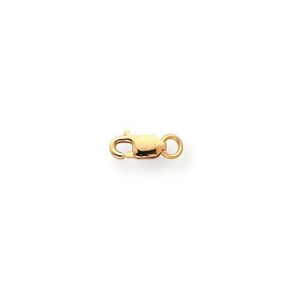 3.2mm 10k Yellow Gold Standard Weight Lobster Clasp w/ Jump Ring