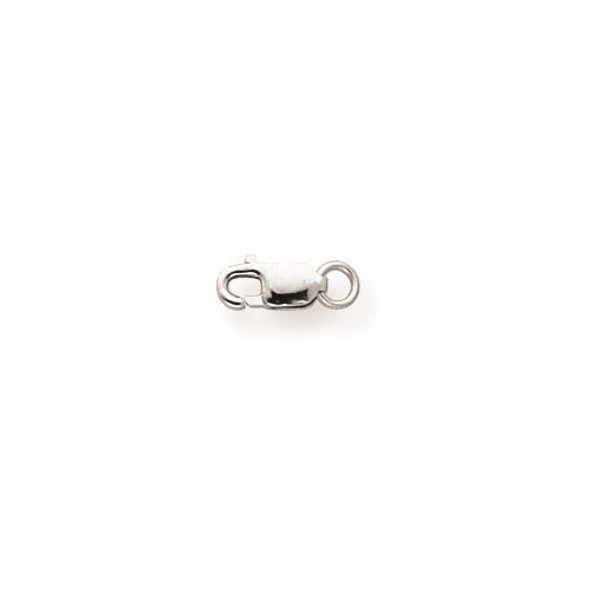 3.2mm 10k White Gold Standard Weight Lobster Clasp w/ Jump Ring