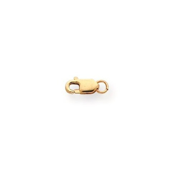 3.2mm 10k Yellow Gold Lightweight Lobster Clasp w/ Jump Ring