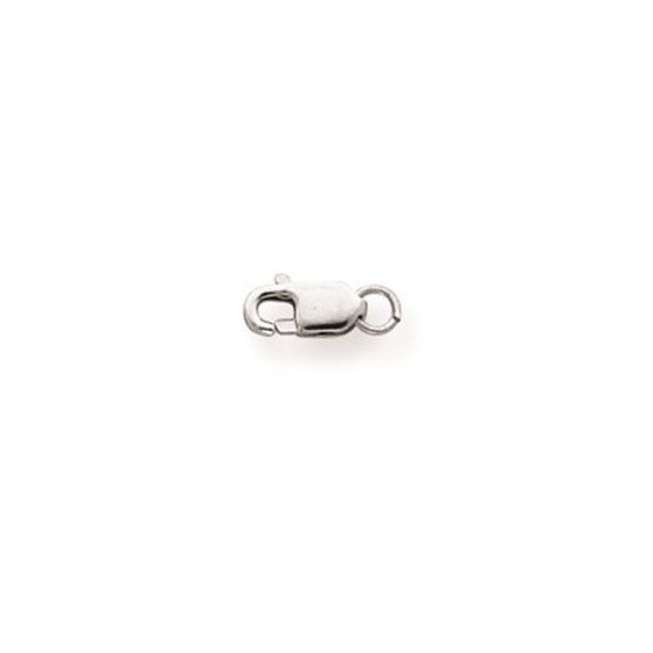 3.2mm 10k White Gold Lightweight Lobster Clasp w/ Jump Ring