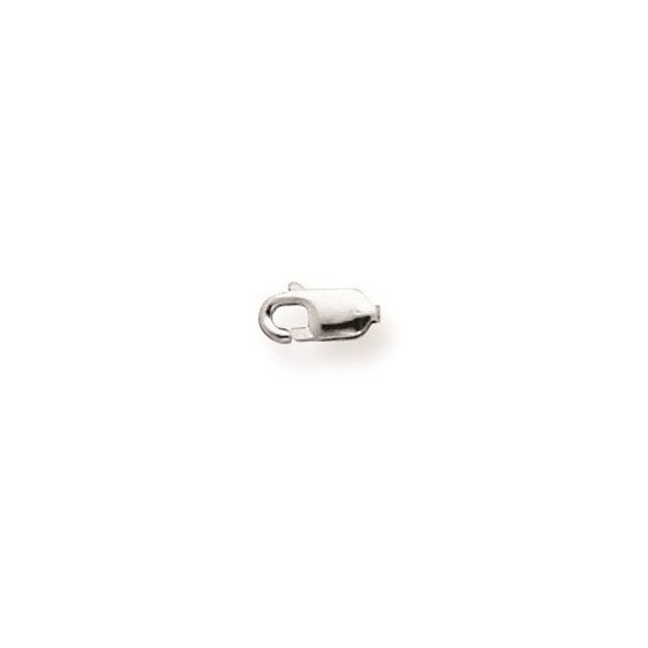 3.2mm 10k White Gold Standard Weight Lobster Clasp