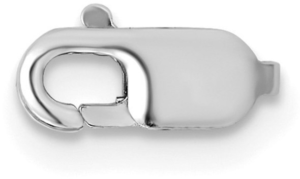 3.2mm 14k White Gold Standard Weight Lobster Clasp