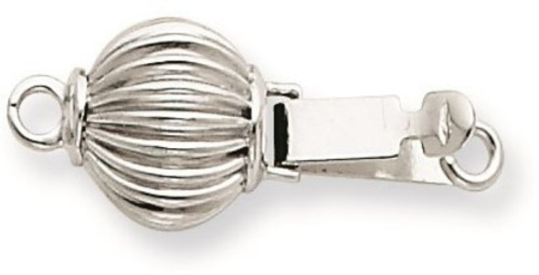 7mm 14k White Gold Bead/Pearl Clasp