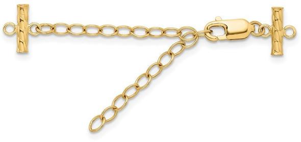"""2"""" 3.2mm 14k Yellow Gold Multi-Strand Extender YG2024"""