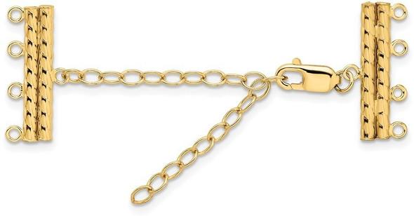 """2"""" 3.2mm 14k Yellow Gold Multi-Strand Extender"""