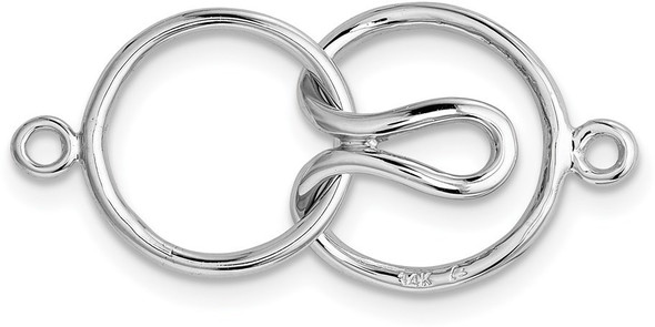 20.7mm x 12mm 14k White Gold Bead/Pearl Clasp