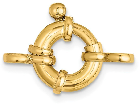 10mm 14k Yellow Gold Fancy Spring Ring Clasp