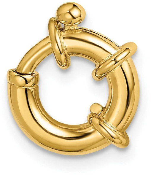 11mm 14k Yellow Gold Fancy Spring Ring Clasp