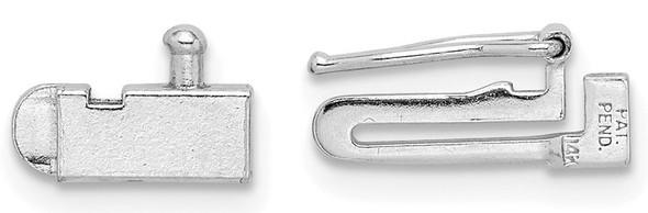 3.5mm 14k White Gold Tennis Bracelet Clasp