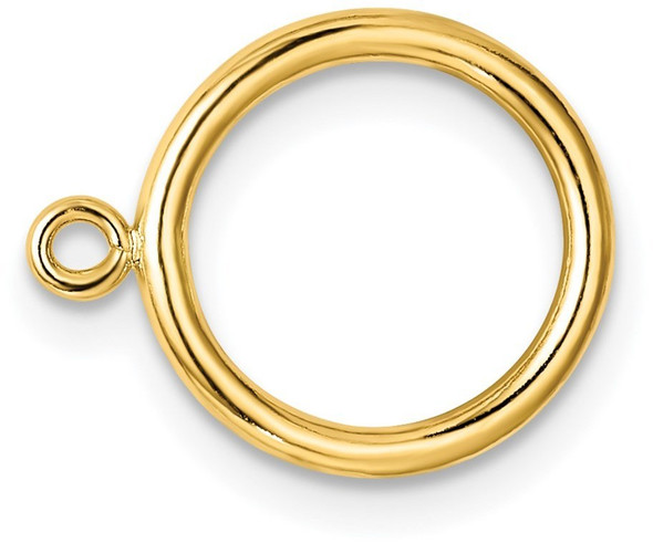 10.5mm 14k Yellow Gold Solid Wire Toggle Ring for Clasp