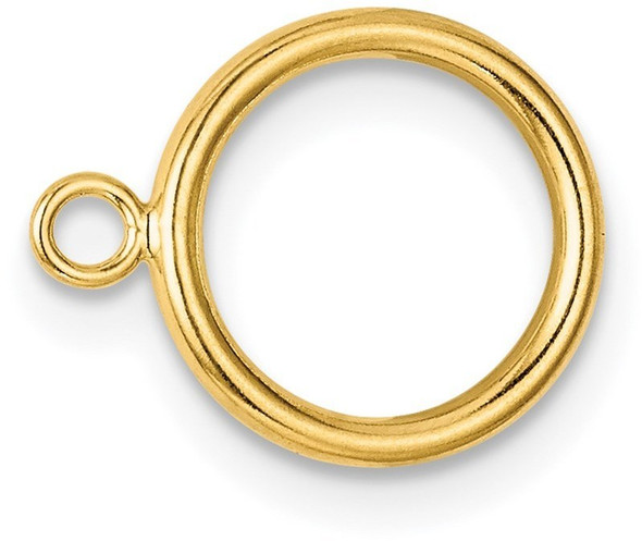 10mm 14k Yellow Gold Hollow Wire Toggle Ring for Clasp