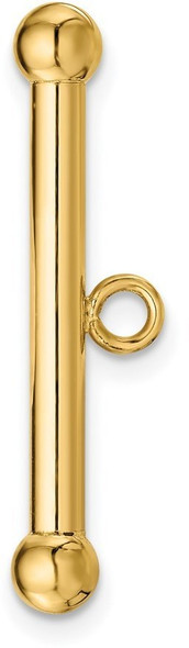 27.6mm 14k Yellow Gold Fancy Toggle Bar for Clasp