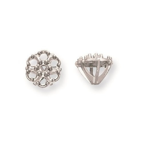 14k White Gold Cluster 7-Stone Low 3.00ct. Setting