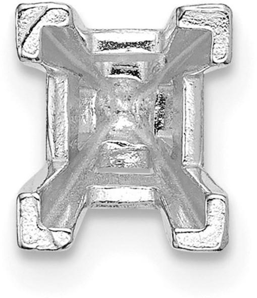 14k White Gold Emerald-Head V-End w/ Peg 6.5 x 5.5mm Setting