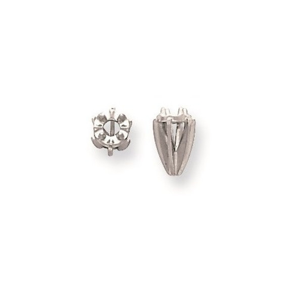 14k White Gold Illusion 6-Prong High .06ct. Setting