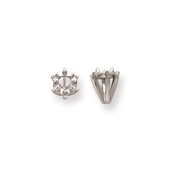 14k White Gold Illusion 6-Prong Low .10ct. Setting