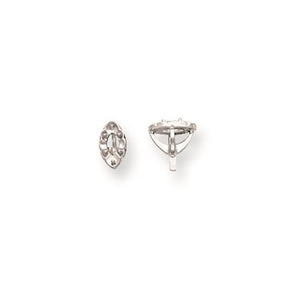14k White Gold Illusion 4-Prong Miracle Marquise w/ Peg .10ct. Setting