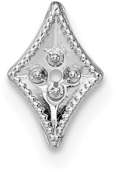 14k White Gold Top Diamond-Shaped Die Struck 1.3ct. Setting WG305