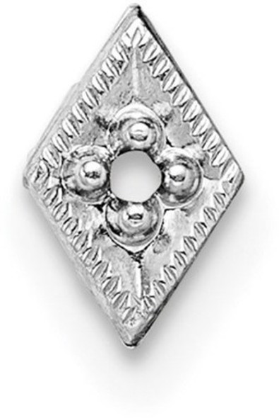 14k White Gold Top Diamond-Shaped Die Struck 1.3ct. Setting WG304
