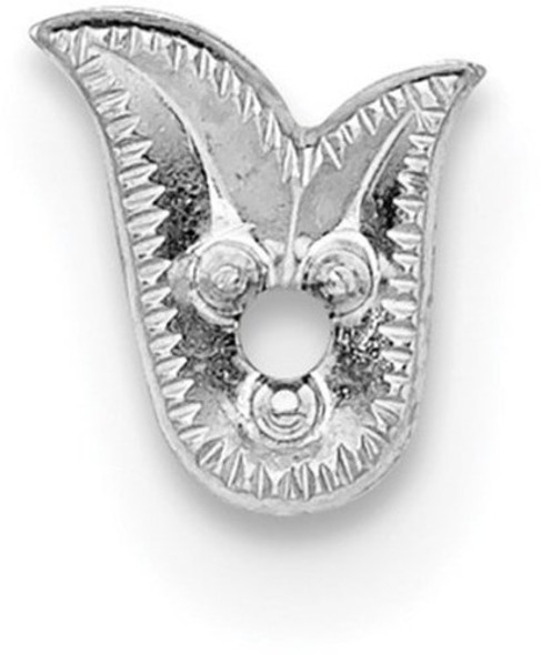14k White Gold Top Fancy Shaped Die Struck .01ct. Setting WG310