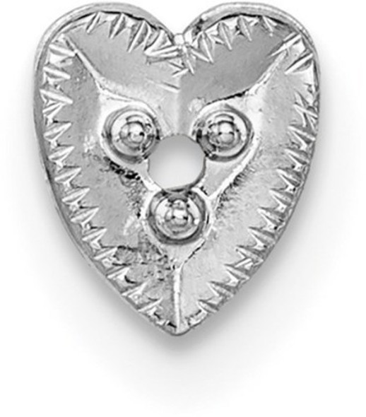 14k White Gold Top Heart Shaped Die Struck 1.3ct. Setting WG307