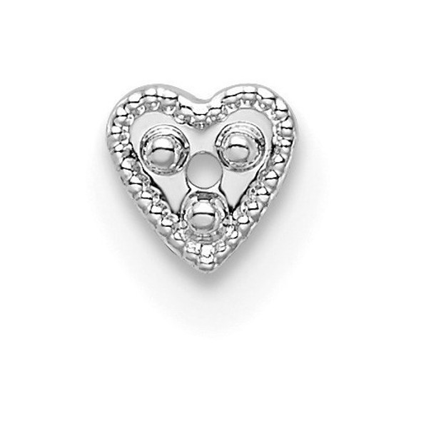 14k White Gold Top Heart Shaped Die Struck 1.3ct. Setting WG306