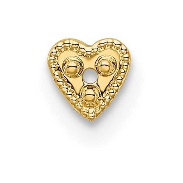 14k Yellow Gold Top Heart Shaped Die Struck 1.3ct. Setting